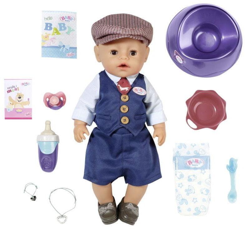 BABY born - Lalka interaktywna Soft Touch Chłopiec City Boy 43 cm 831274