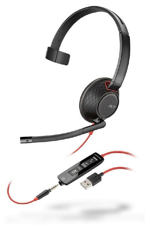 Plantronics Blackwire C5210 USB-C Przewodowy zestaw słuchawkowy USB-C