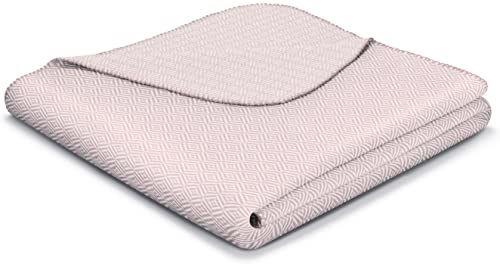 Biederlack Narzuta z mieszanki bawełny, dwukolorowa, Lotus Soft Pink
