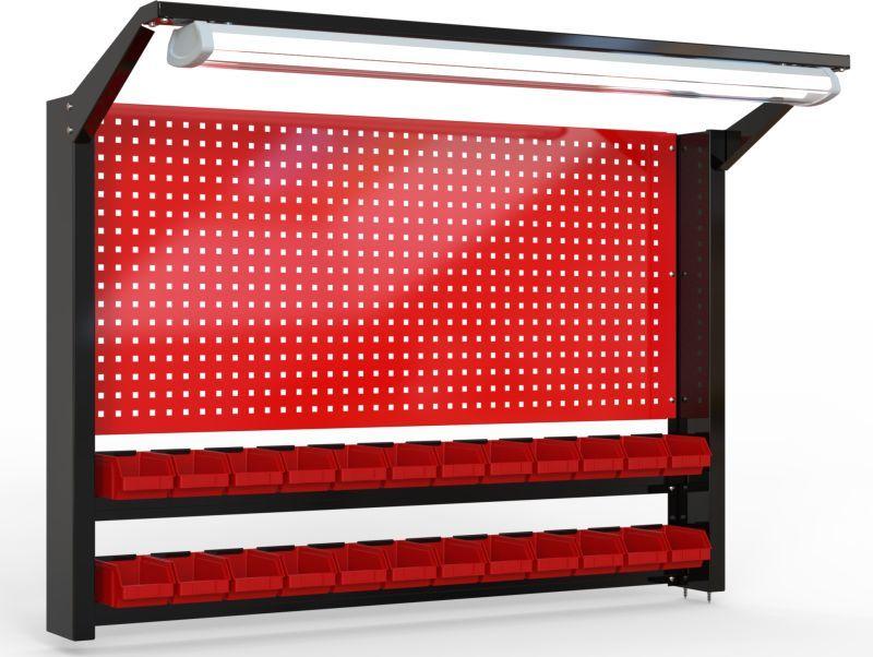 Tablica na narzędzia 920mm X 1350mm X 135mm z oświetleniem - POWYSTAWOWA