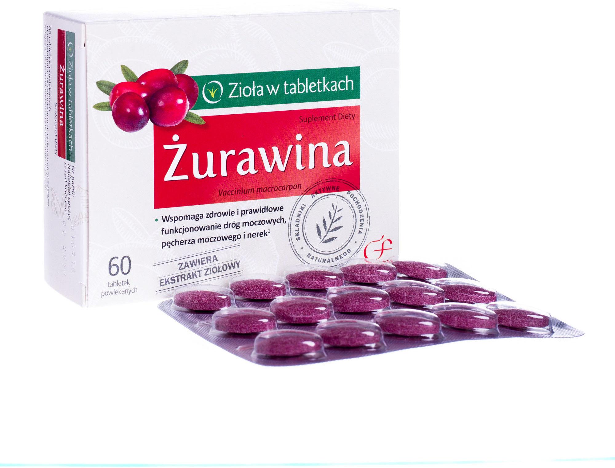 Żurawina 60 tabletek