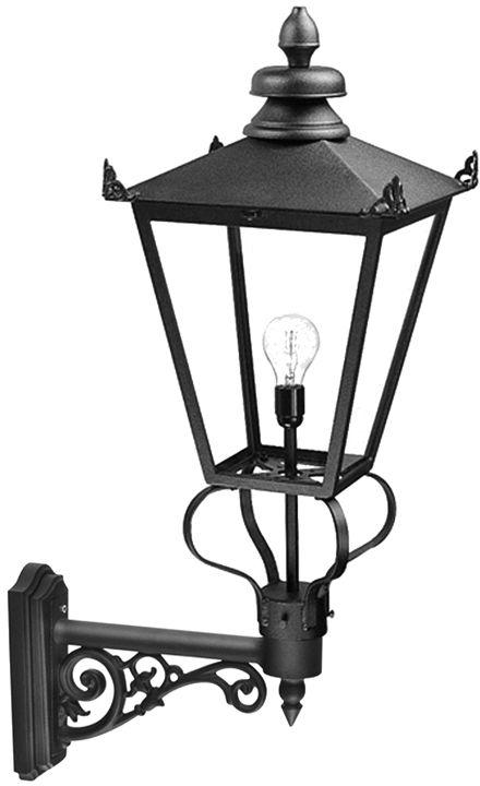 Kinkiet zewnętrzny Wilmslow WSLB1 Elstead Lighting czarna oprawa ścienna w klasycznym stylu