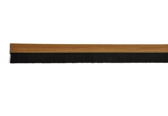 Listwa uszczelniająca ze szczotką 24 mm samoprzylepna dąb (jasne drewno) PCV 1mb