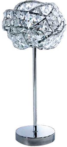 Lampa stołowa Bari AZ2106 AZzardo kryształowa oprawa w nowoczesnym stylu