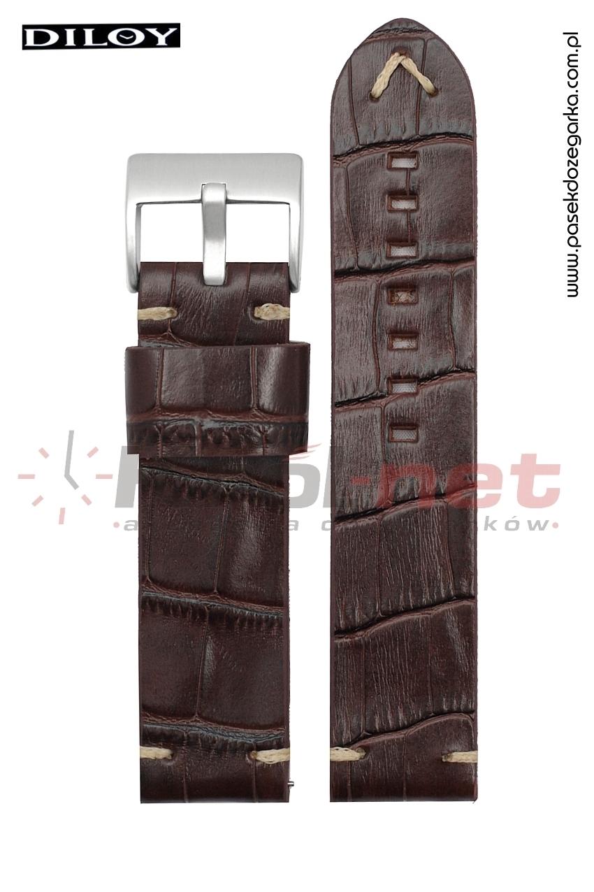Pasek do zegarka Diloy 403/2/24 - brązowy