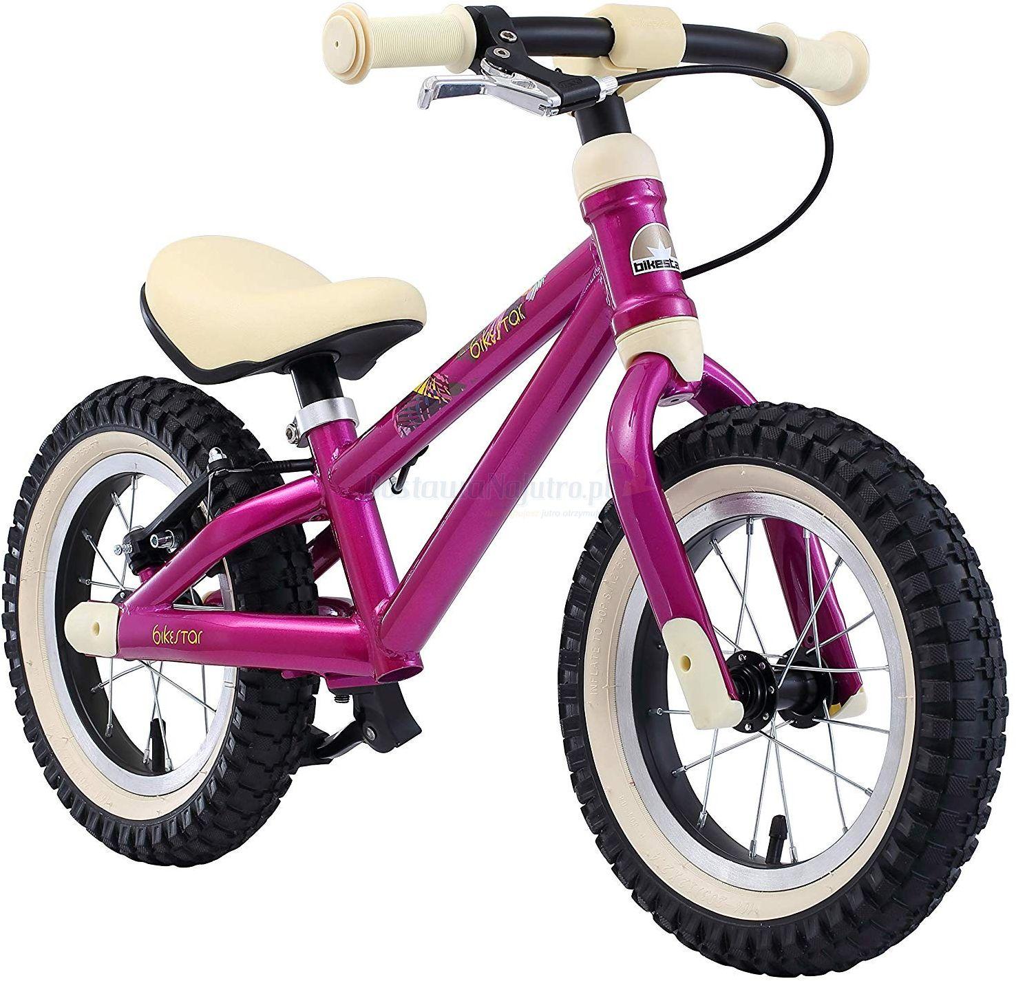 """Rowerek biegowy MTB 12"""" BIKE STAR GERMANY różowy"""