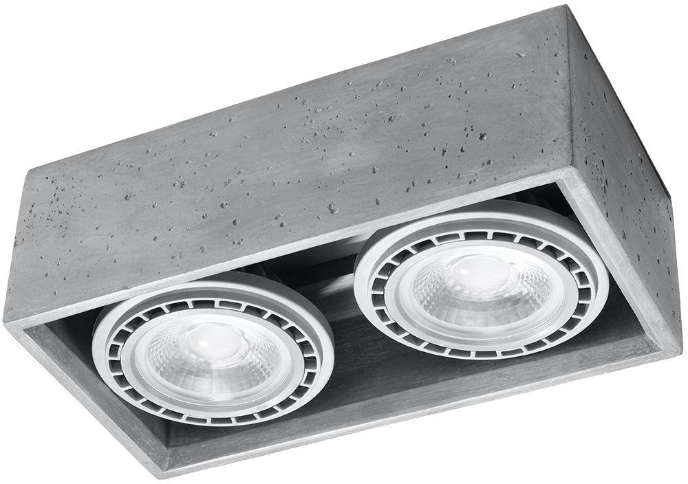 Oprawa sufitowa betonowa QUATRO 2 punktowa ES111 SL.0884 - Sollux // Rabaty w koszyku i darmowa dostawa od 299zł !