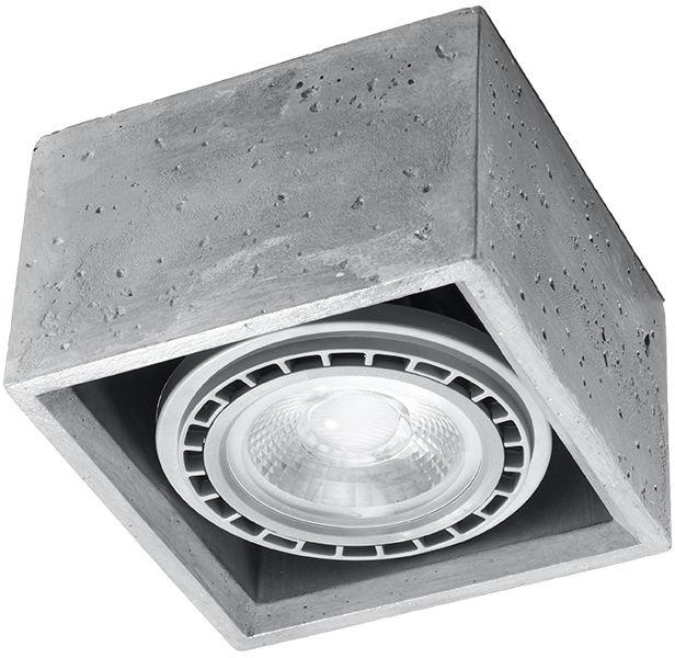 Tuba natynkowa betonowa kwadratowa QUATRO SL.0883 - Sollux // Rabaty w koszyku i darmowa dostawa od 299zł !