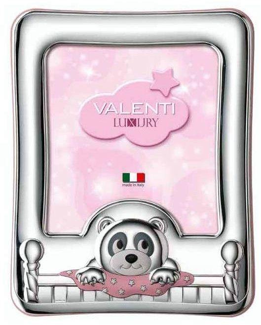 Ramka na zdjęcia Miś z kołderką Rozmiar: 13x18 cm Kolor: Różowy SKU: VL73103/4LR