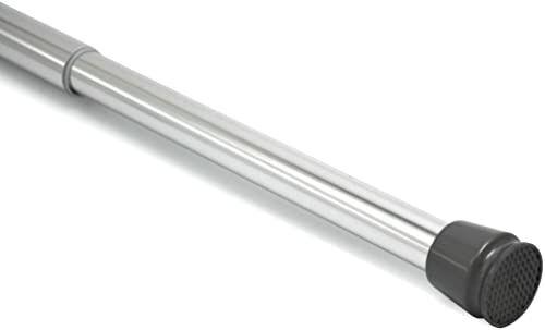 Levivo Karnisz, może być również używany jako drążek prysznicowy lub drążek na ubrania, zmienna długość dzięki łatwemu wyciąganiu drążka teleskopowego, z chromowanego aluminium, 70-120 cm, chrom