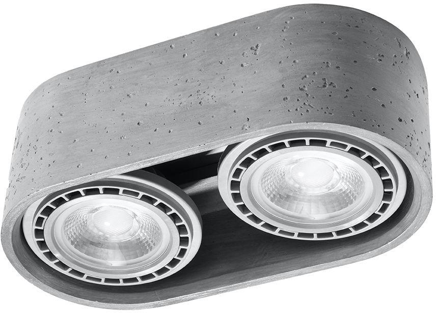 Tuba natynkowa betonowa BASIC 2 punktowa ES111 SL.0882 - Sollux // Rabaty w koszyku i darmowa dostawa od 299zł !