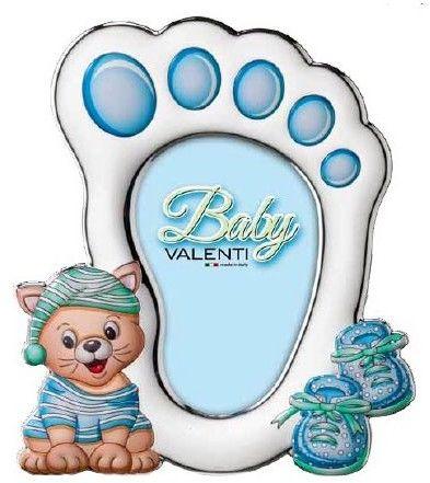 Ramka na zdjęcie stopa z kotkiem Rozmiar: 10x15 cm Kolor: Niebieski SKU: VL71609/3XLC
