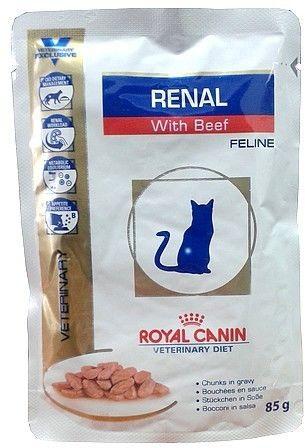 Royal Canin Veterinary Diet Feline Renal Wołowina saszetka 85g Royal Canin Veterinary Diet DLA ZAMÓWIEŃ + 99zł GRATIS!