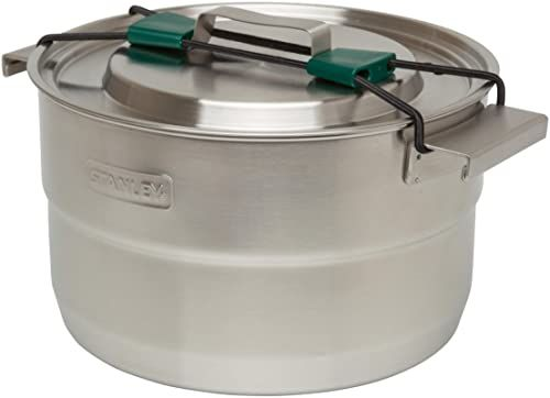 Stanley Adventure Full Kitchen Basecamp Cook Set 3.5L  11-elementowy zestaw naczyń kempingowych - Turystyczny zestaw do gotowania - Pakowny - Garnek ze Stali Nierdzewnej z pokrywką z wentylem