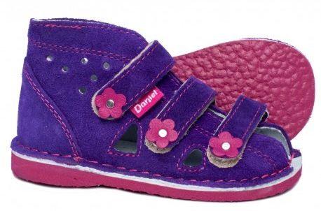Daniel kapcie sandałki profilaktyczne dla dziewczynki fioletowe