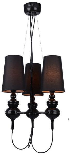 Lampa wisząca Baroco 3 AZ2163 AZzardo czarna oprawa w klasycznym stylu