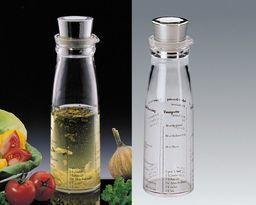 Küchenprofi Shaker do dressingu z pokrywką ze stali nierdzewnej, tworzywa sztucznego, srebrny/przezroczysty