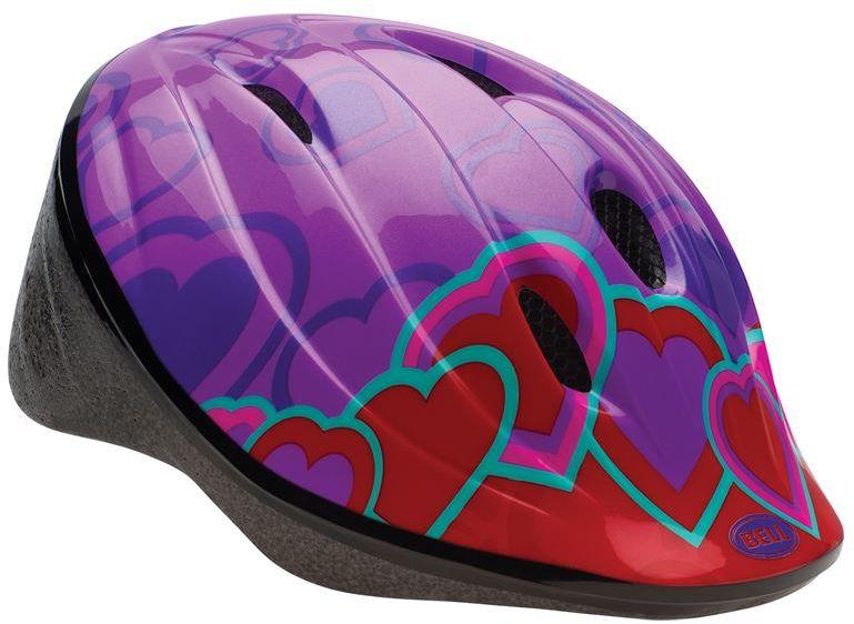 Kask rowerowy dziecięcy BELL BELLINO heart color block Rozmiar: 52-56,bellinoheartcolor