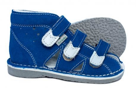 Danielki kapcie sandały profilaktyczne WZ S 104/114 blue
