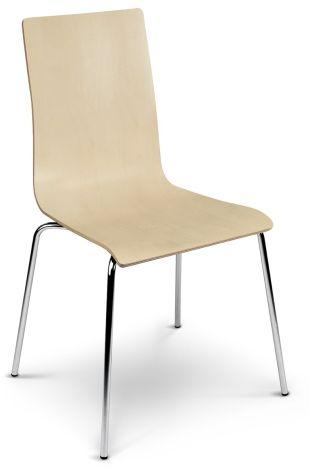 Krzesło CAFE VII buk na metalowych nogach kawiarniane  KUP TERAZ - OTRZYMAJ RABAT