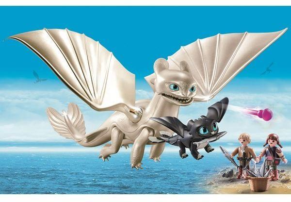 Playmobil - Biała Furia z małym smokiem 70038