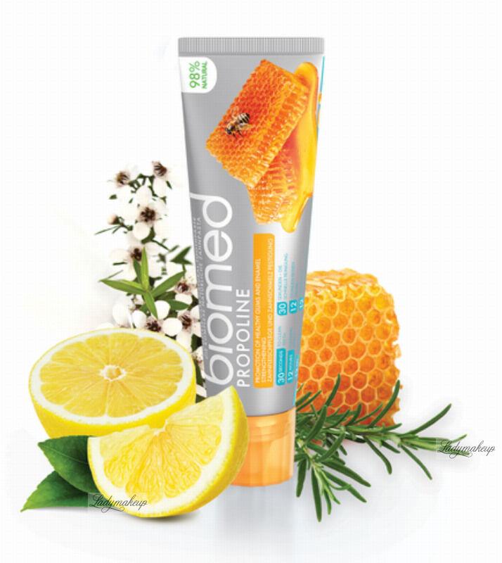 BIOMED - PROPOLINE - Complete Care Natural Toothpaste - Wzmacniająca szkliwo pasta do zębów - 100 g