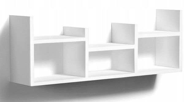 Biała minimalistyczna półka ścienna - Lorea