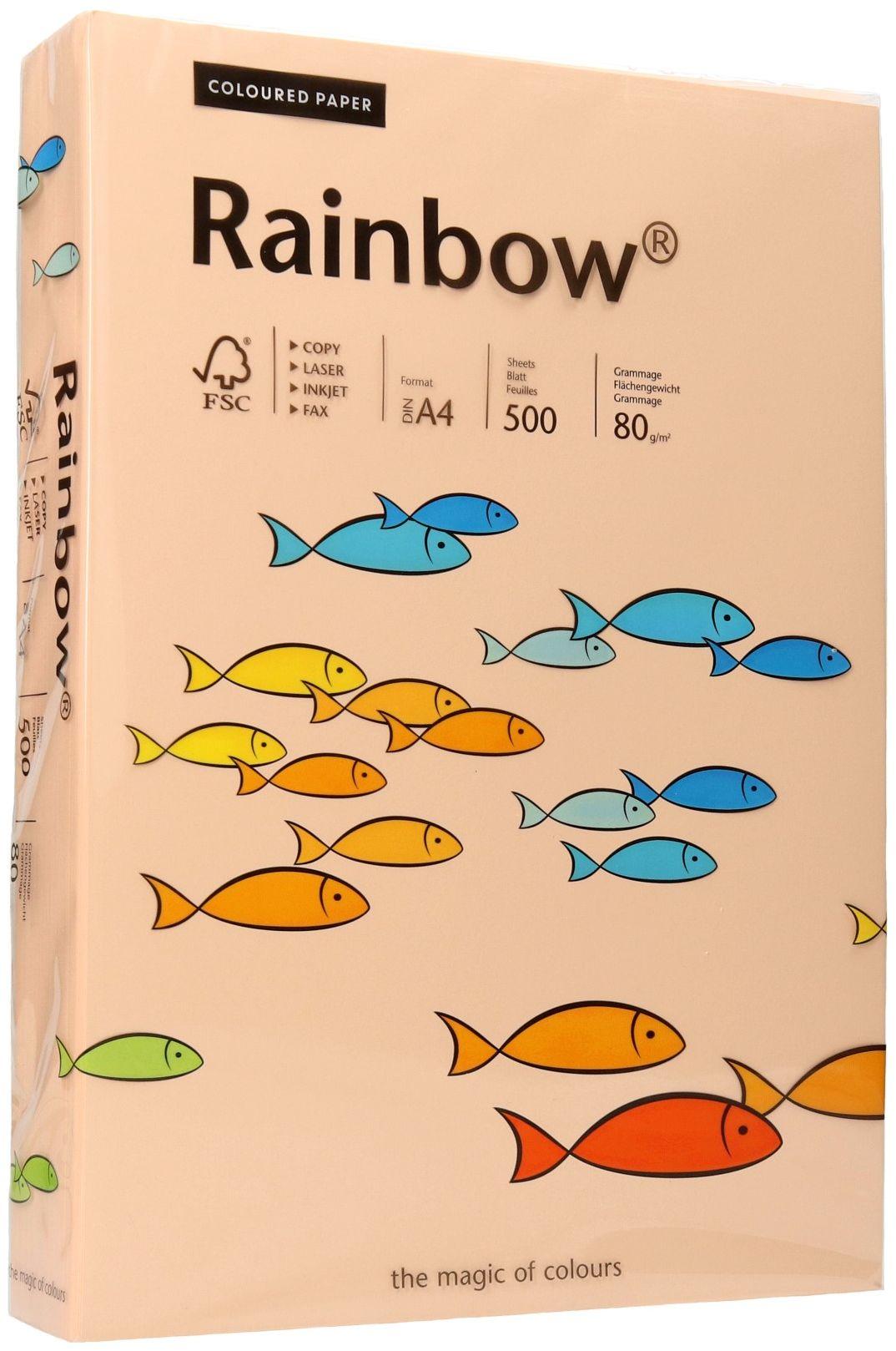 Papier ksero A4 80g łososiowy Rainbow 40