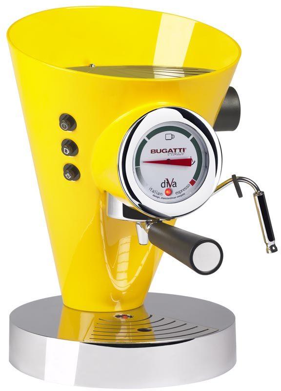 Ekspres do kawy (żółty) DIVA Bugatti