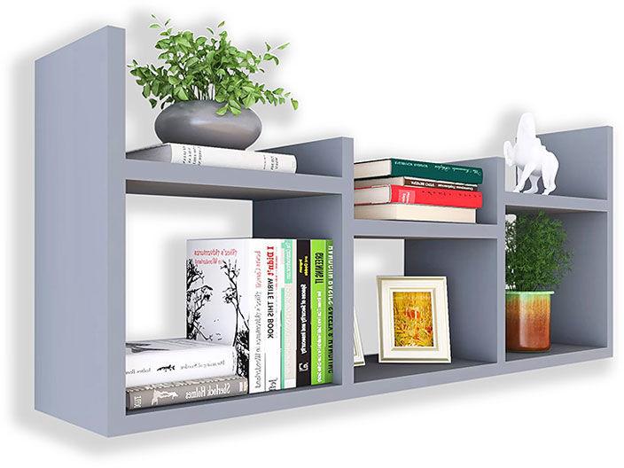 Szara minimalistyczna półka na książki - Lorea
