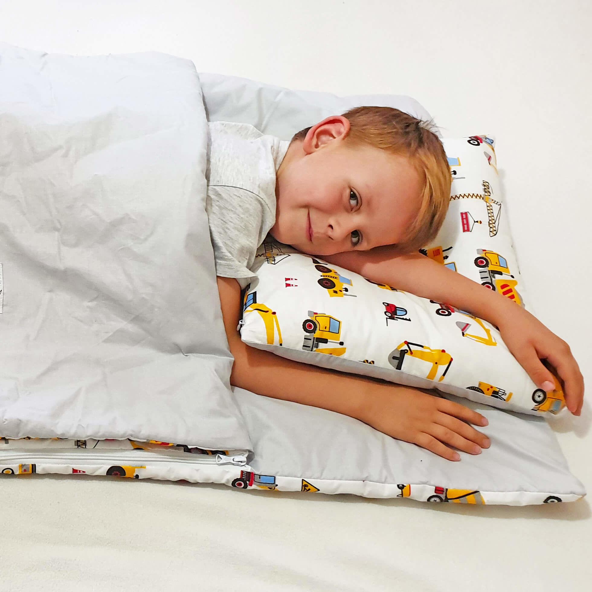 Śpiworek przedszkolaka  pościel do przedszkola Koparki  - Bawełna
