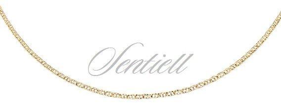Łańcuszek srebrny 925 gucci pozłacany - żółte złoto