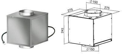 Silnik poddaszowy Falmec 950 m /h [KACL.798#41F]