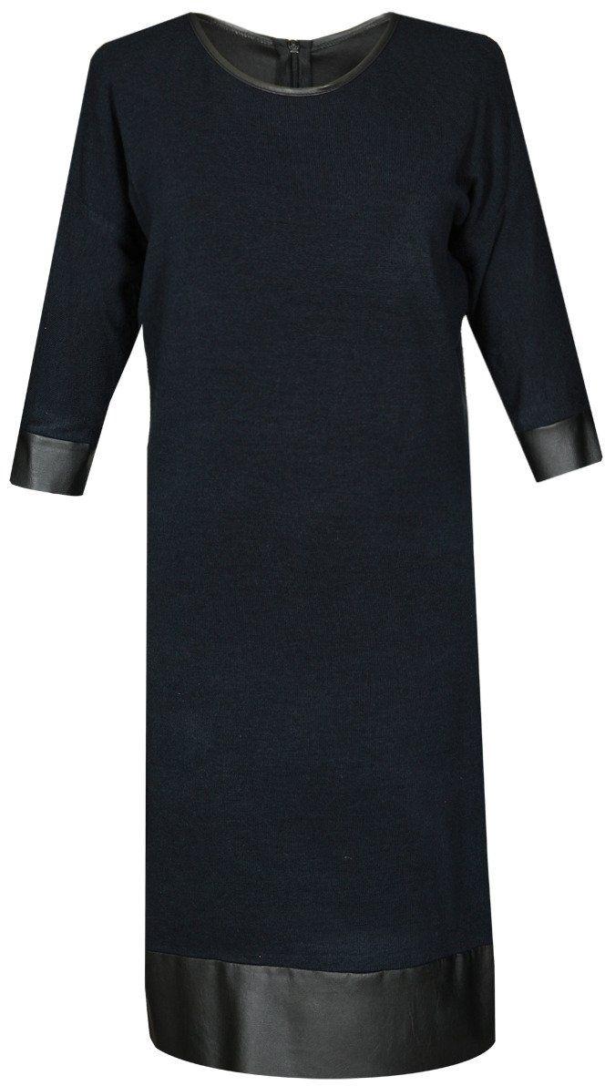 Sukienka FSU649 GRANATOWY + CZARNY