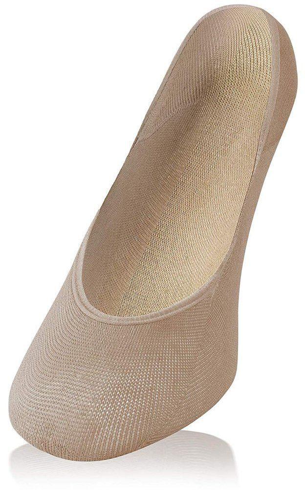 Niewidoczne bawełniane balerinki Sesto Senso