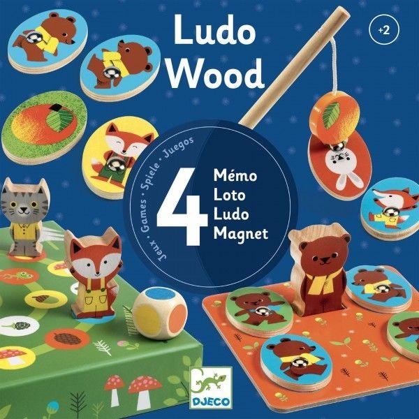 Djeco - Zestaw 4 gier LudoWood DJ01628