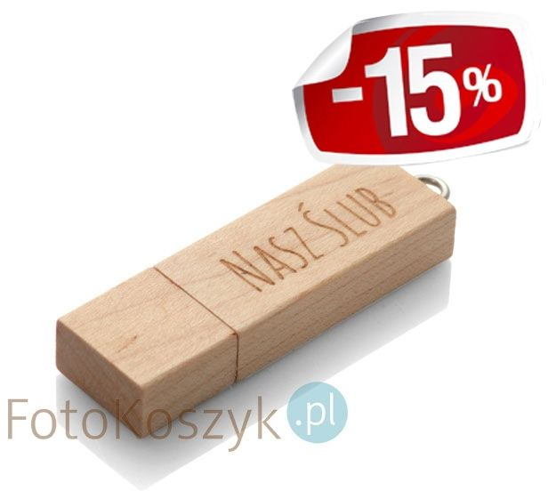 Pendrive Nasz Ślub MG-USB 3.0 jasne drewno (8GB)