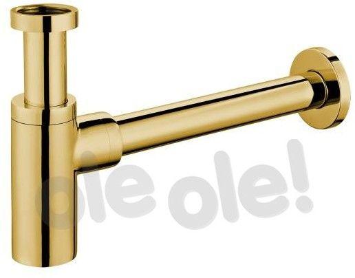 Omnires Syfon umywalkowy, ozdobny, wzór cylindryczny A186GL złoty