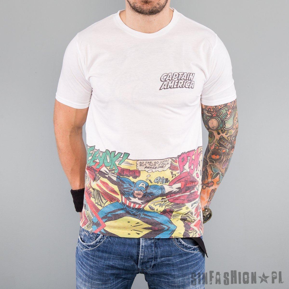 Koszulka marvel - captain america comic poket