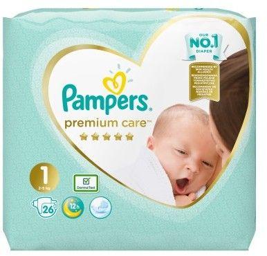 Pieluszki Pampers Premium Care Newborn (2-5 kg) 26szt.