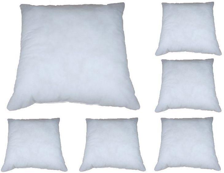 Poduszki 40x40 cm antyalergiczne economy białe 6 sztuk