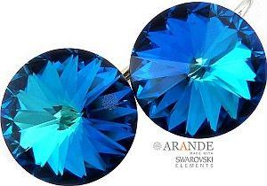 NOWE! SWAROVSKI piękny komplet BERMUDA BLUE SREBRO