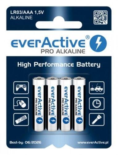 4 x baterie alkaliczne everActive Pro LR03 / AAA (blister)
