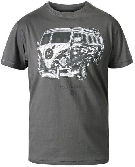 FADDEN-D555 Duży T-shirt Khaki - VOLKSWAGEN