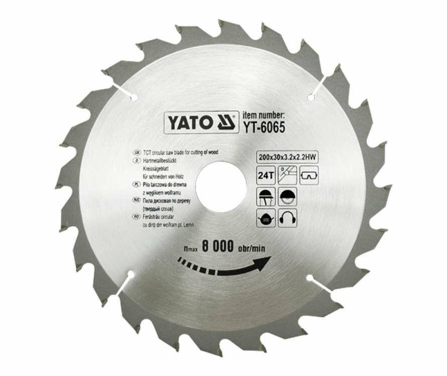 TARCZA WIDIOWA 205X24TX18 MM Yato YT-6066 - ZYSKAJ RABAT 30 ZŁ