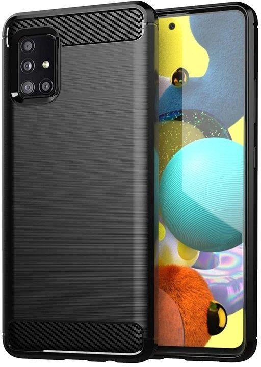 Carbon Case elastyczne etui pokrowiec Samsung Galaxy M31s czarny
