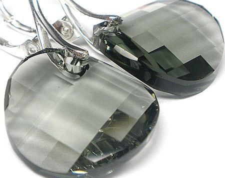 Swarovski kolczyki TWIST BLACK DIAMOND CERTYFIKAT