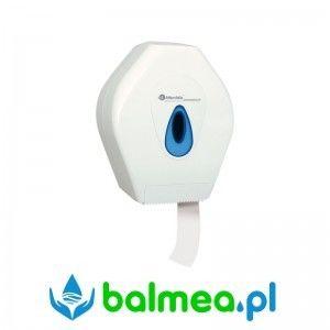 Pojemnik na papier toaletowy - ABS - niebieskie okienko - Merida - BTN201