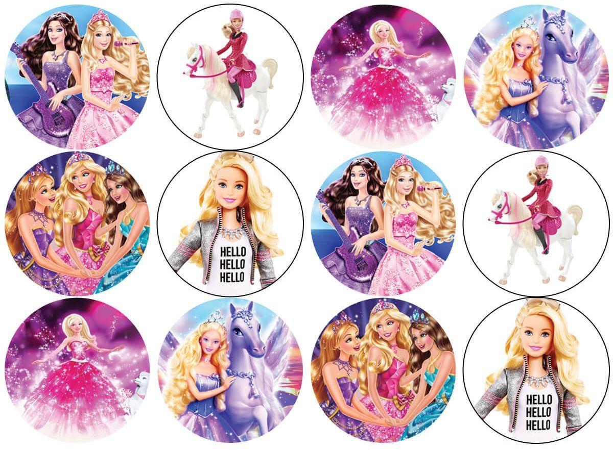 Opłatki na muffiny babeczki Barbie