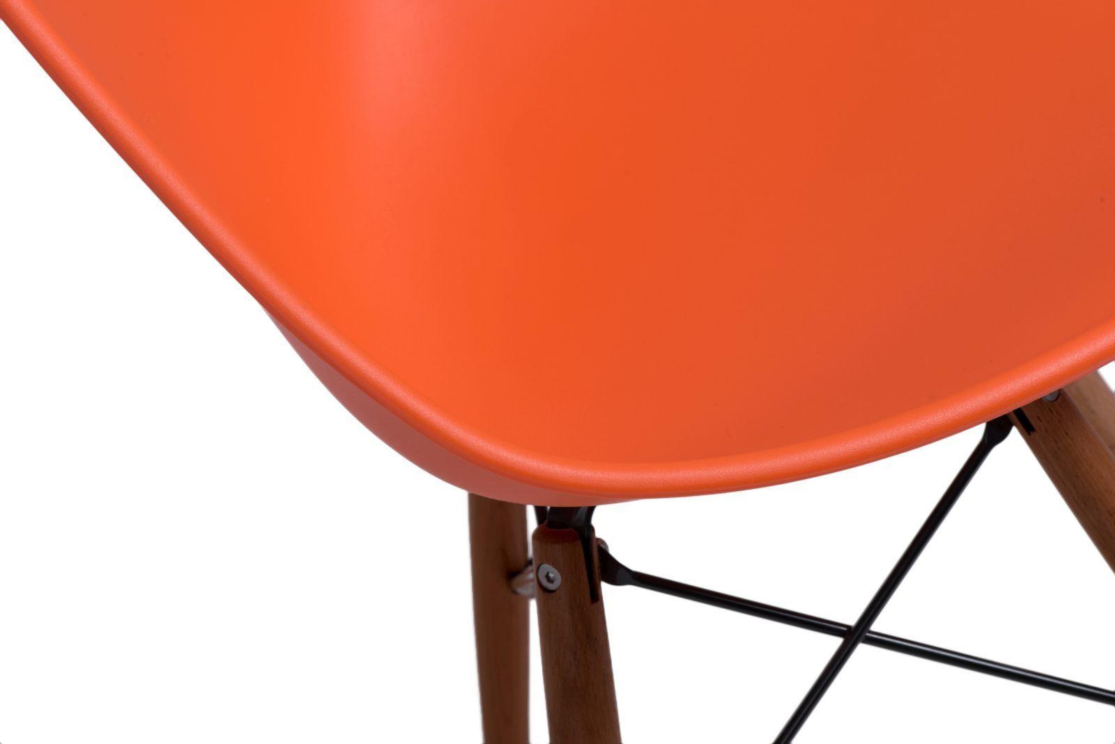 D2 Krzesło Rush DSW pomarańczowe/dark